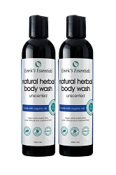 Emric's Essentials Herbal Body Wash - Unscented: 2 Pack