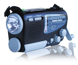 KA888 - Dynamo/Solar Powered Shortwave Radio & Flashlight