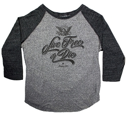 Live Free Or Die Baseball Shirt
