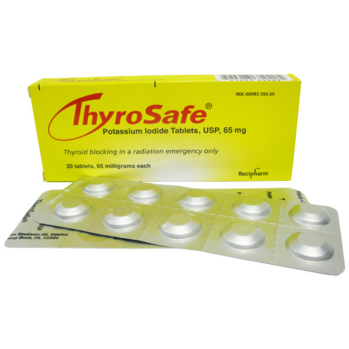 Potassium Iodide tablets being distributed to PA residents living near Nuclear Power Plants thyrosafe pckg