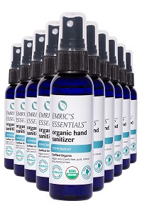 Emric's Essentials Peppermint Organic Hand Sanitizer 10-Pack