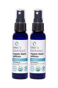 Emric's Essentials Peppermint Organic Hand Sanitizer 2-Pack