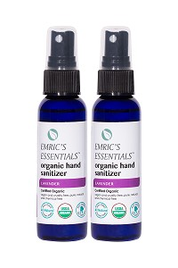 Emric's Essentials Lavender Organic Hand Sanitizer 2-Pack