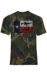 CAMO M16 Texas Come and Take It T-Shirt