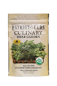 Organic Culinary Herb Garden Seed Kit by Patriot Seeds