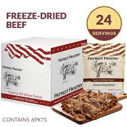 Patriot Pantry Freeze-Dried Beef Case Pack