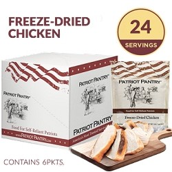 Patriot Pantry Freeze-Dried Chicken Case Pack