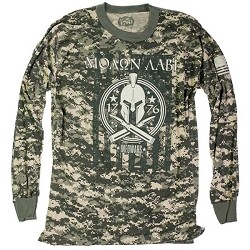 Long Sleeved Camo Molon Labe Shirt