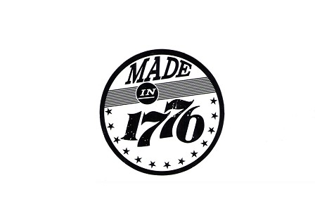 Made in 1776 Circular Sticker