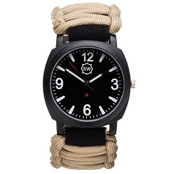 Survival Watch V3 Military Grade Paracord | Compass | Whistle and Fire Starter