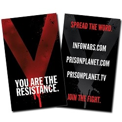"Business Card: ""V"" You Are The Resistance--100 Pack"