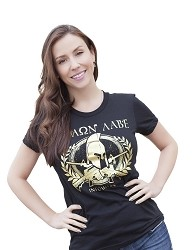 Women's Gold Foil Molon Labe Shirt