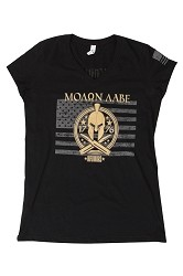 Women's .50 Cal Spartan Black Shirt