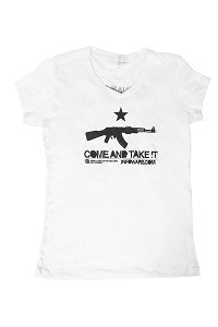 Women's Come and Take It White V-Neck